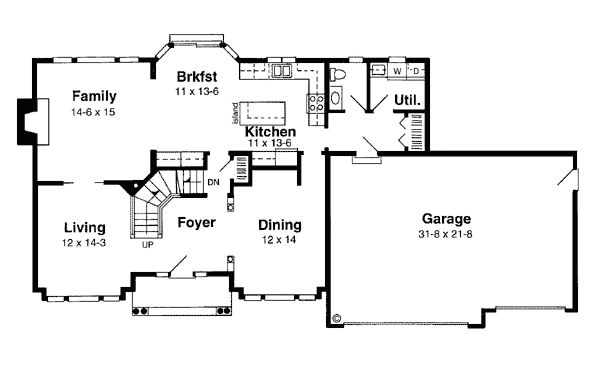 Traditional Colonial House Floor Plans Colonial House Traditional Kitchens