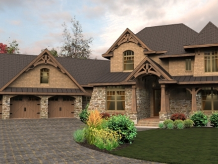 Two-Story Craftsman Style Homes Exterior Colors 2 Story Craftsman House Plans