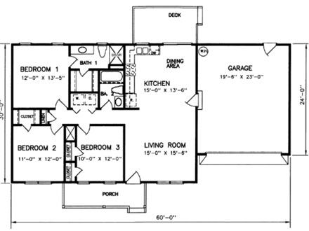 1200 Square Foot House Kits 1200 Square Foot House Plans with 3 Bedrooms