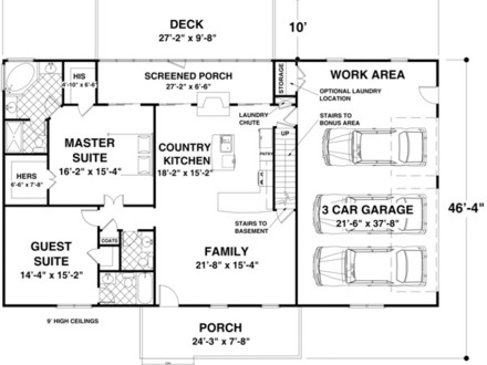 1500 Sq Ft House Plans with Basement Ranch House Plans 1500 Sq FT