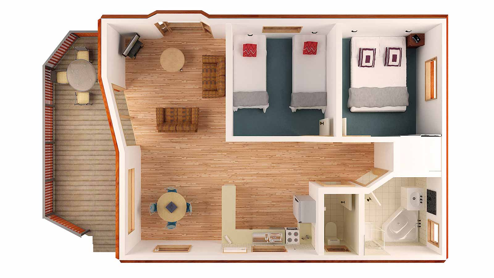 2 Bedroom Bungalow Floor Plan Cottage 2 Bedroom Homes Two