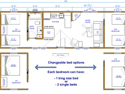2 Bedroom Cabin Floor Plans Mountain Cabin Bedroom Style 2