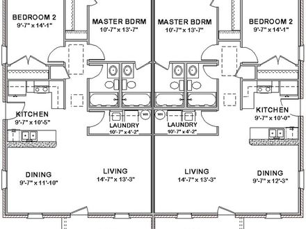 2 Bedroom Duplex Plans 2 Bedroom Duplex Floor House Plans