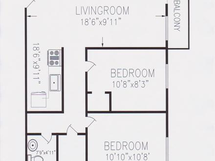 2 Bedroom Floor Plans for 700 Sq Ft House 4 Bedroom 2 Bath Floor Plans