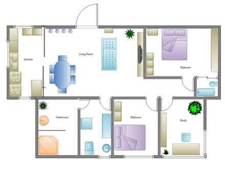 2 Bedroom House Simple Plan Simple House Plans Designs