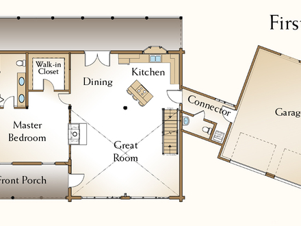 Small log cabin homes floor plans small log cabin for 2 story house plans with loft