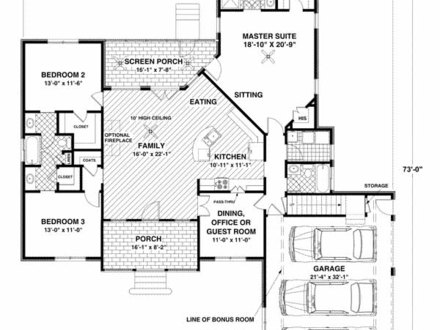 1400 sq ft modular homes 1400 sq ft house plan 3 bedroom 2 for Three bedroom house plans with bonus room