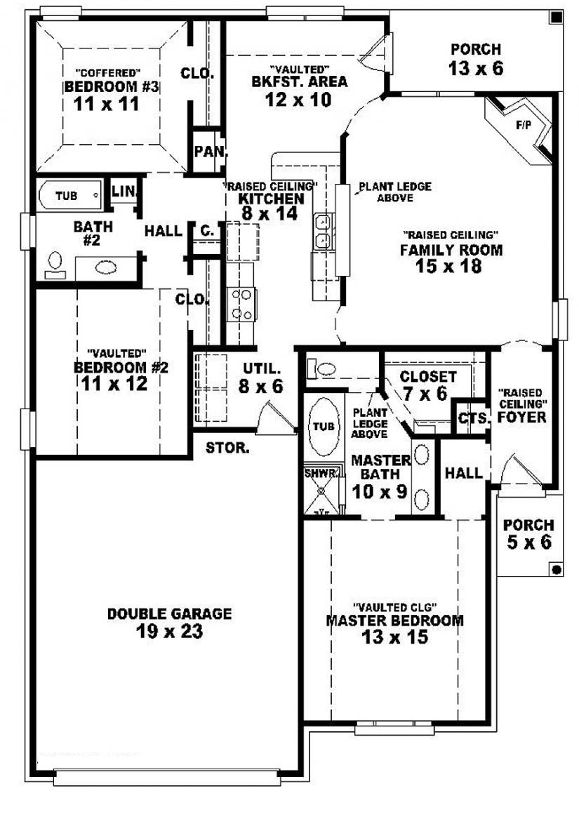 3 Bedroom One Story House Plans 3-Bedroom Townhouse for Rent