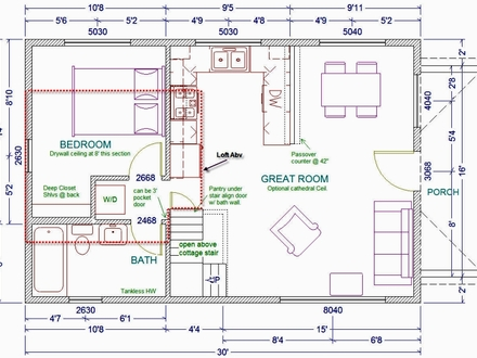 30 X 30 Cabin Plans 20 X 30 Cabin Floor Plans with Loft
