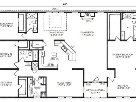 4 Bedroom Ranch House Floor Plans 4-Bedroom Ranch House Plans