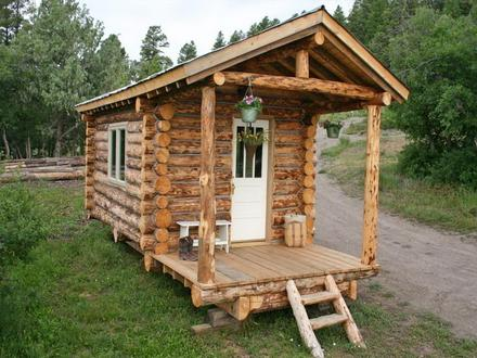 Affordable Small Log Cabins Small Log Cabin Build