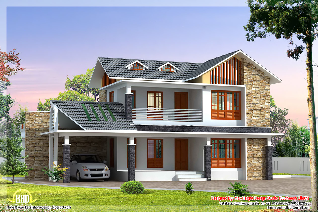 Beautiful villa house designs small house exterior design for Villas exterior design pictures