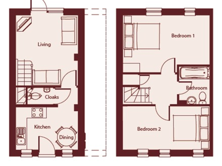 Bungalow Cottage Homes Cottage and Bungalow Floor Plans