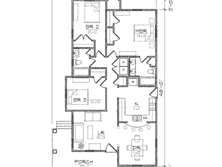 Bungalow House Floor Plans Robinson Bungalow House Plans