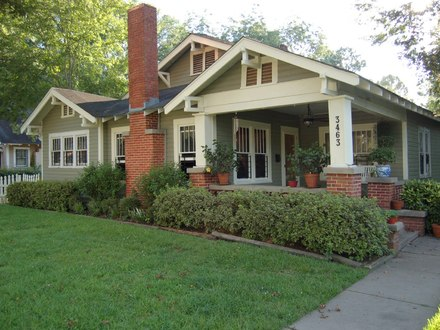 Bungalow Style Porches Craftsman Bungalow Style Homes