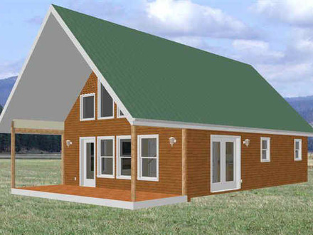 Cabin with Loft Plans Free Cabin House Plans