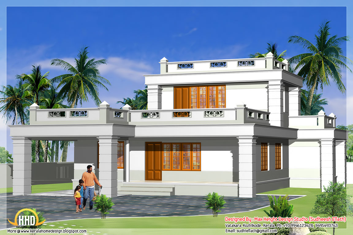 Front Elevation Of Small Bungalows : Cottage front elevation house designs small