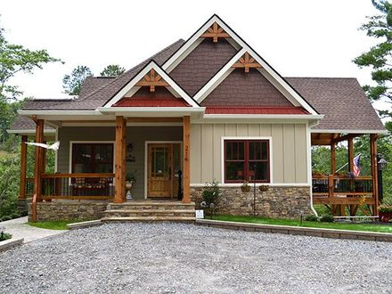 Country Lake House Small Lake Home House Plans