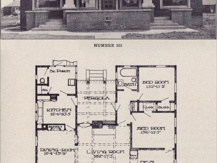 Bungalow floor plan 2 bedroom bungalow plans american for California craftsman house plans