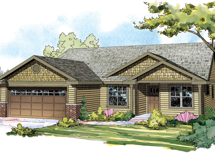 Craftsman House Plan Single Story Craftsman House Plans