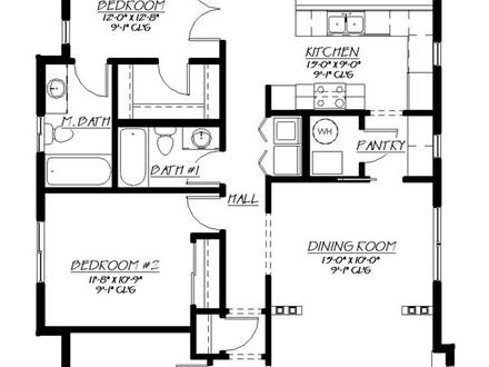 Floor Plans Small Home Designs Small Home House Plan