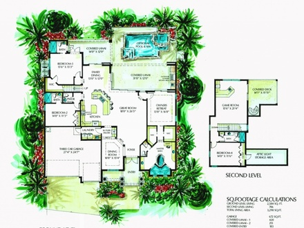 Florida Style Homes Interiors Florida Style Home Floor Plans