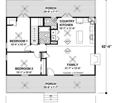 Forest Lake Cottage House Plan Lake Cottage House Plans Large