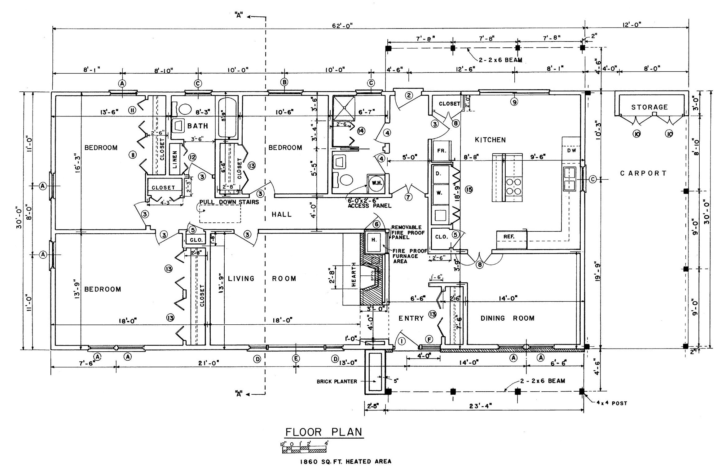 Free ranch house floor plans old ranch house house plans for Old ranch house plans