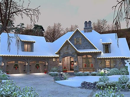 French Country Cottage House Plan Craftsman 75134 French Cottage Plans