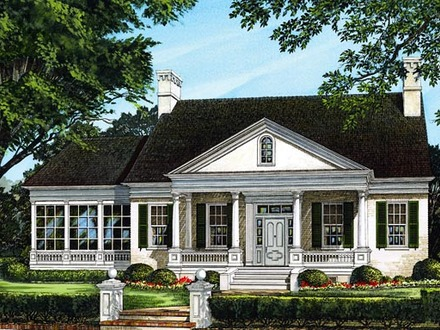 Lake house plans lakefront house plans with walkout for Waterfront home plans sloping lots