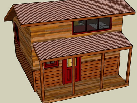 Google SketchUp Small House Designs Google SketchUp House with Dimensions