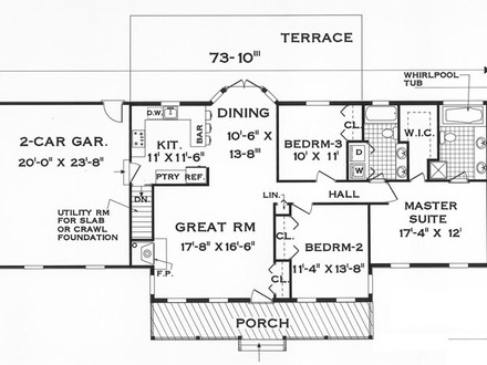 Single story condo floor plans single story with attached for 1 story condo floor plan