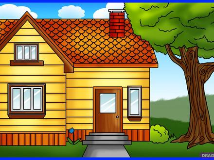 How to Draw Houses Drawing Full House How to Draw
