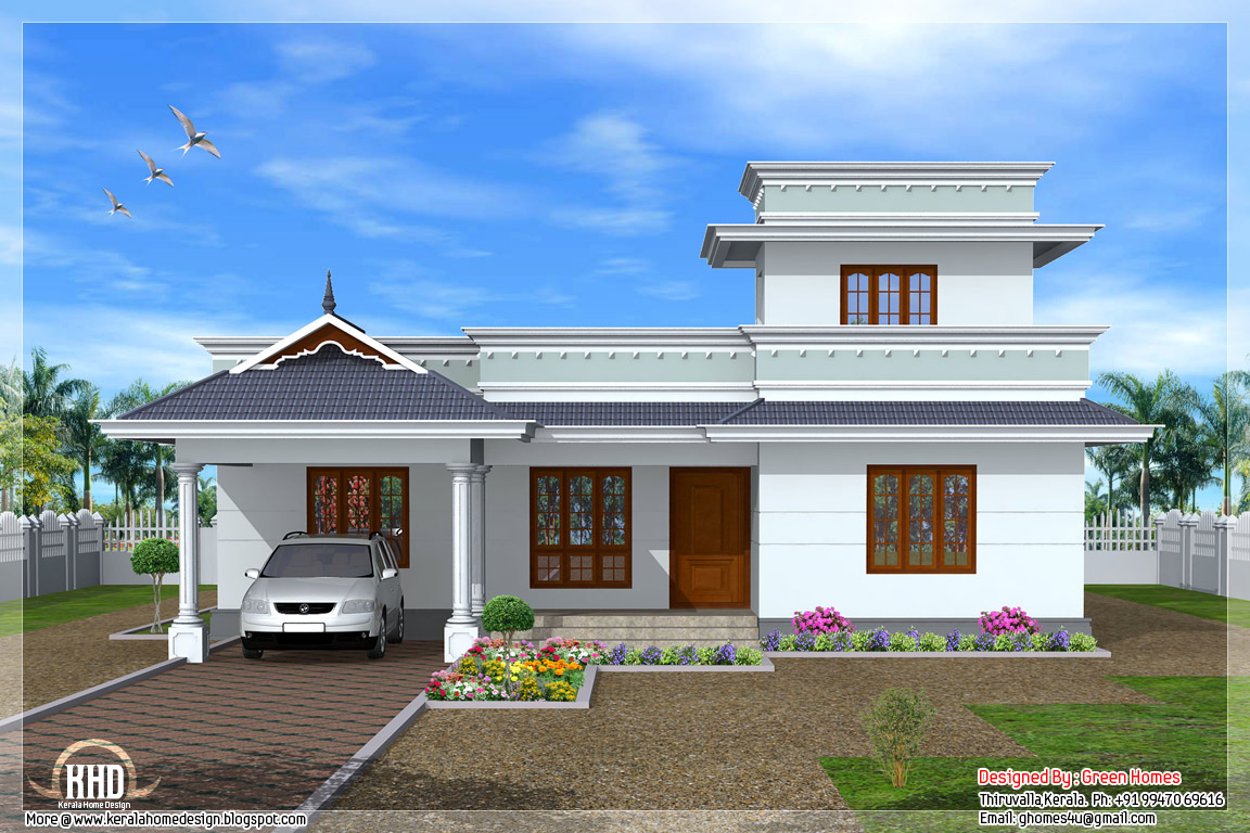 Kerala Single Floor House Designs Small Single Floor House