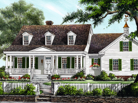 Low country farmhouse house plans southern farmhouse for Large colonial house plans