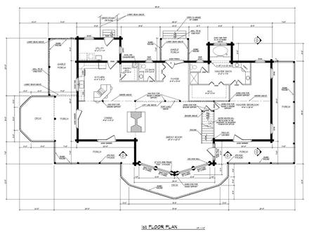 Custom log homes log home plans and designs loghome plans for Luxury log home floor plans