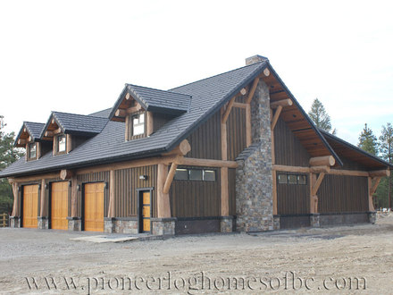 Log Home with Garage Log Home Plans with Loft
