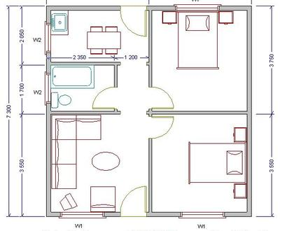 Low Cost House Plans Simple Low Cost House Plans