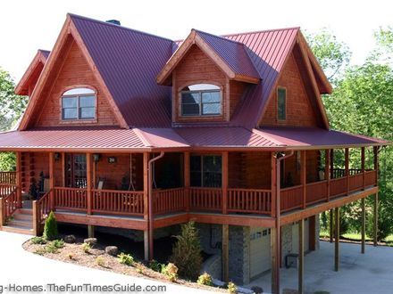 Log cabin plans with wrap around porches open floor plans for Open floor house plans with wrap around porch