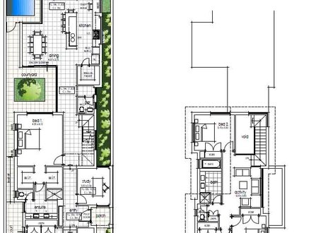 Narrow lot cottage house plans english cottage narrow lot for Cottage house plans for narrow lots
