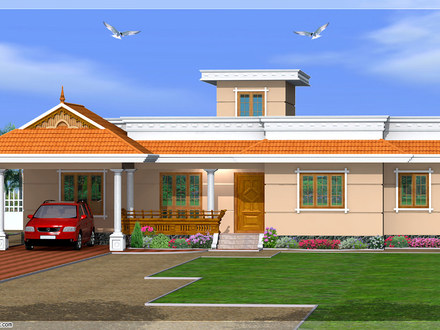 Normal House in Kerala Kerala House Designs One Story