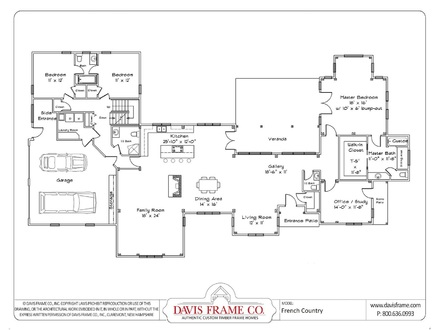 One Story House Plans with Open Floor Plans One Story House Plans with Wrap around Porch