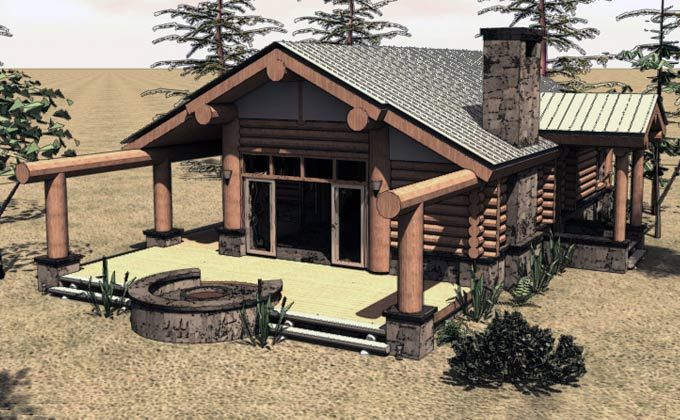 One Story Log Cabin House Plans Inside a Small Log Cabins