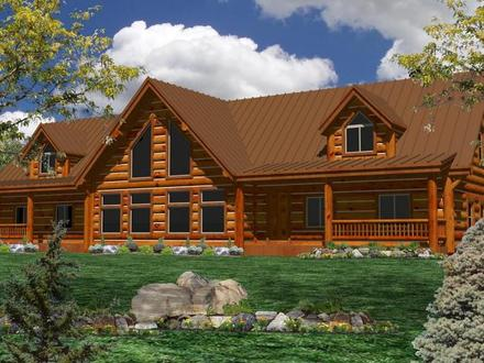 One Story Log Home Plans One Story House