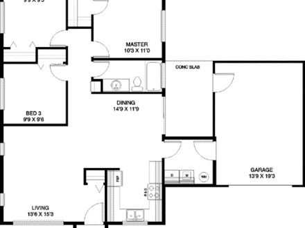 One Story Ranch House Interior One Story Ranch House Floor Plans Blueprints
