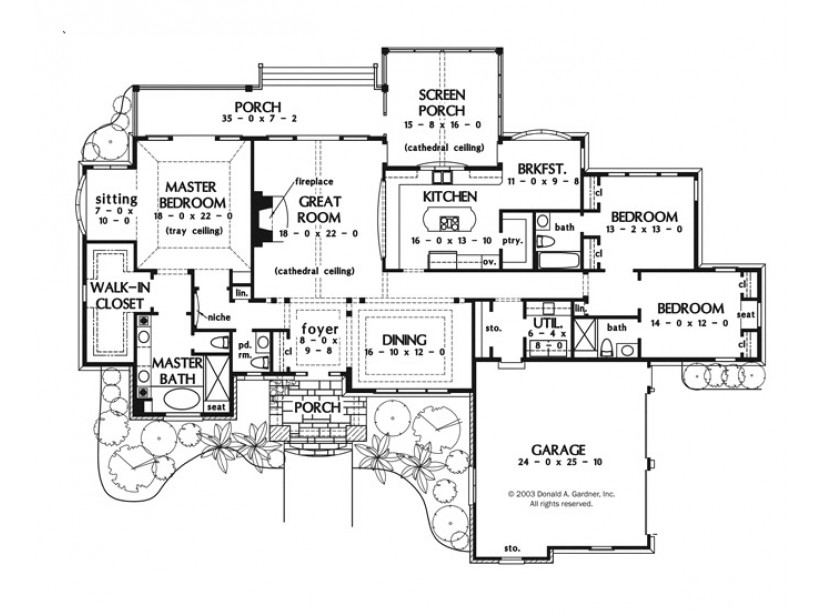 One Story Ranch House One Story Luxury House Plans