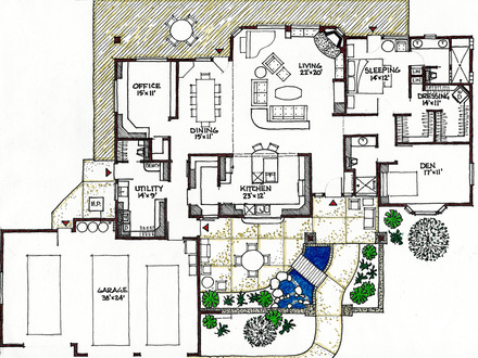 Rustic mountain home nc rustic mountain house floor plans for Passive solar ranch house plans