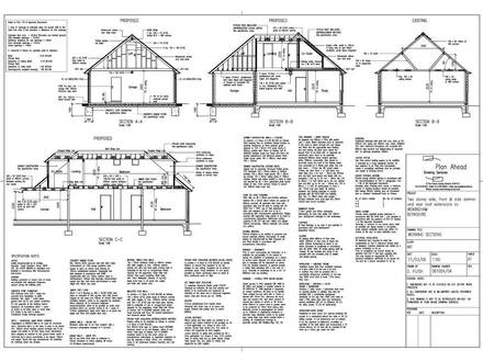 Pencil Drawings Ahead Drawing Services Drawings for house extensions & alterations