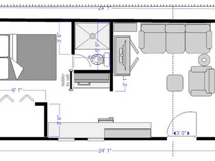 Portable Cabin Tiny House Tiny Cabin House Floor Plans