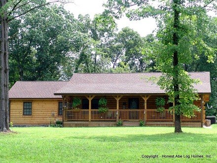 Ranch Floor Plans Log Homes Ranch Style Log Home
